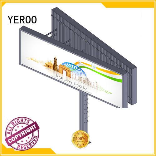 Hot mega lcd billboard solar outdoor YEROO Brand