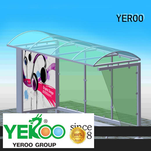 custom bus stop shelter top brand for outdoor advertising