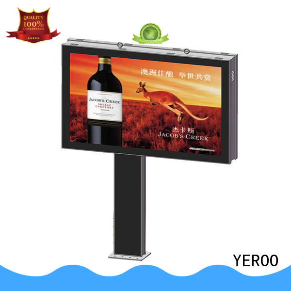 YEROO rolling billboard column for advertising
