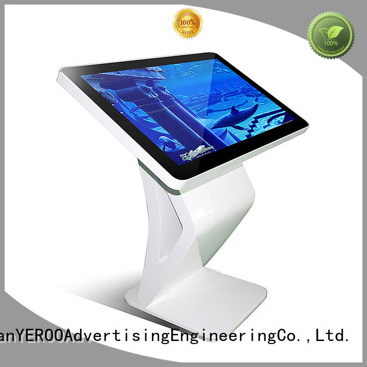 custom service touch screen kiosk for outdoor ad