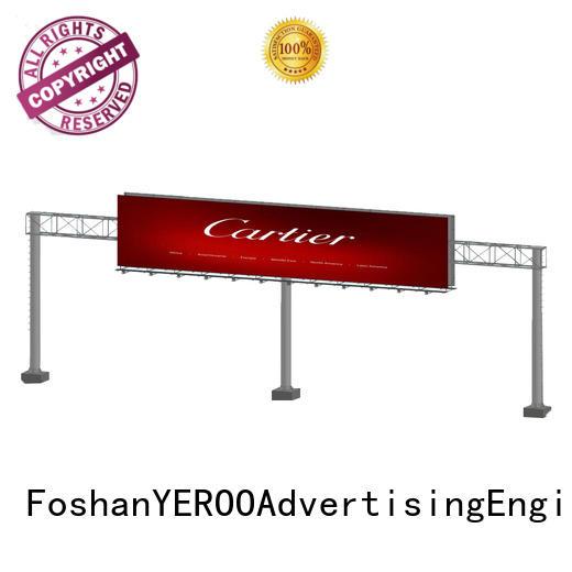 powered outdoor billboards gantry for advertising YEROO