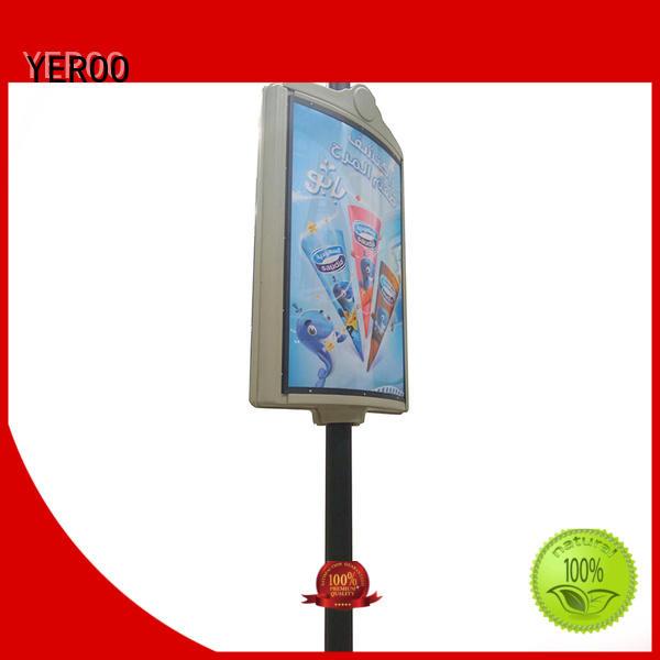 YEROO pole led display advertizing for highway
