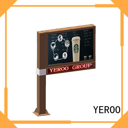 YEROO steel structure scrolling poster chinese for city
