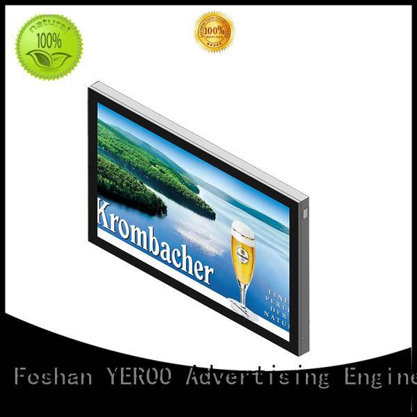 YEROO backlit sign box effective for street ads