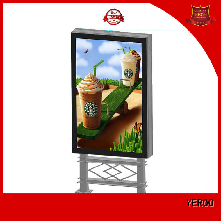 mupi led light box display scrolling outdoor light YEROO