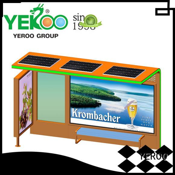 YEROO cost-efficient bus stop shelter advertising solar power