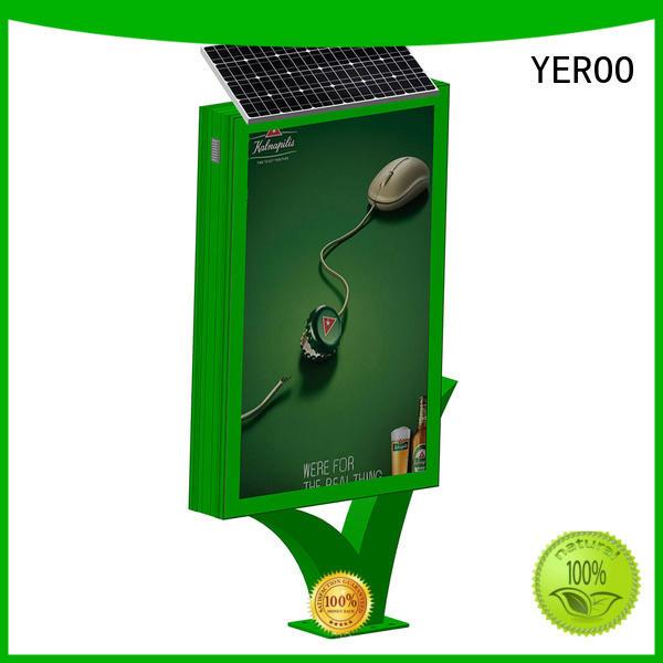YEROO stainless steel aluminum profile light box best quality for advertising