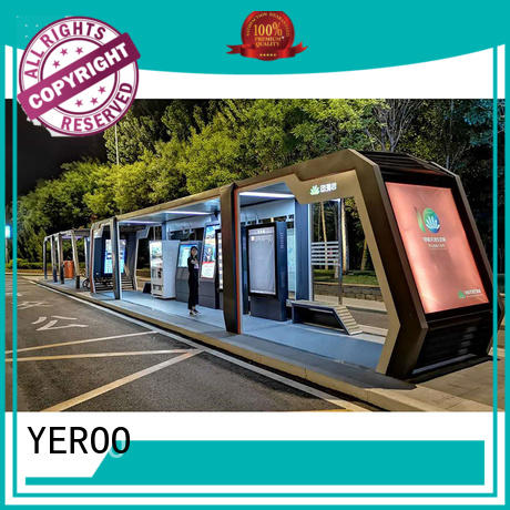 YEROO mobile furniture bus shelter ad for road