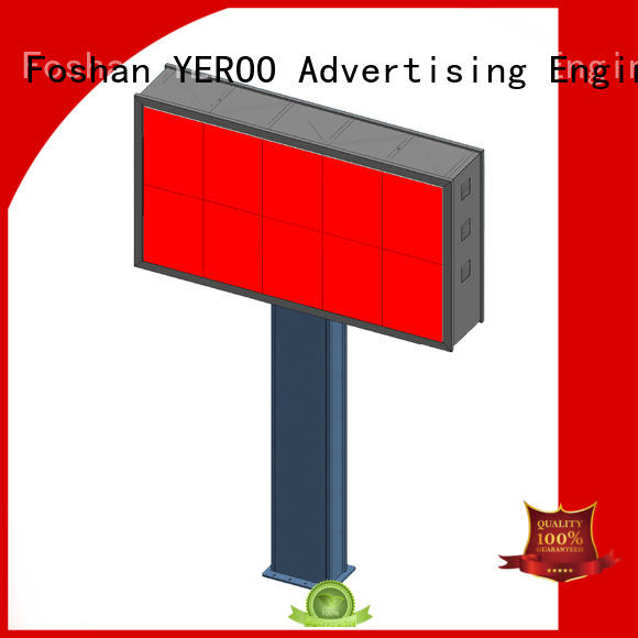 functional gantry structure wall mounted outdoor ads