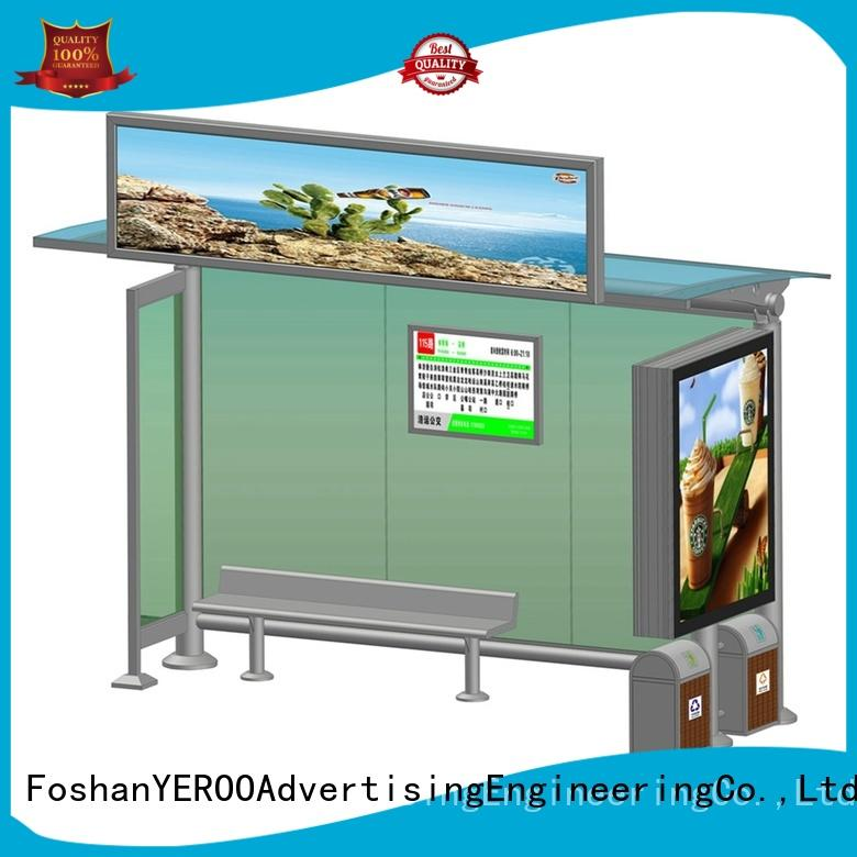 metal bus stop shelter buy now for road YEROO