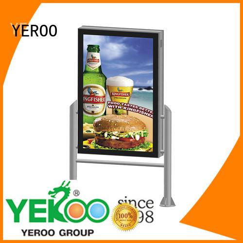 YEROO led light box easy-operation street advertising