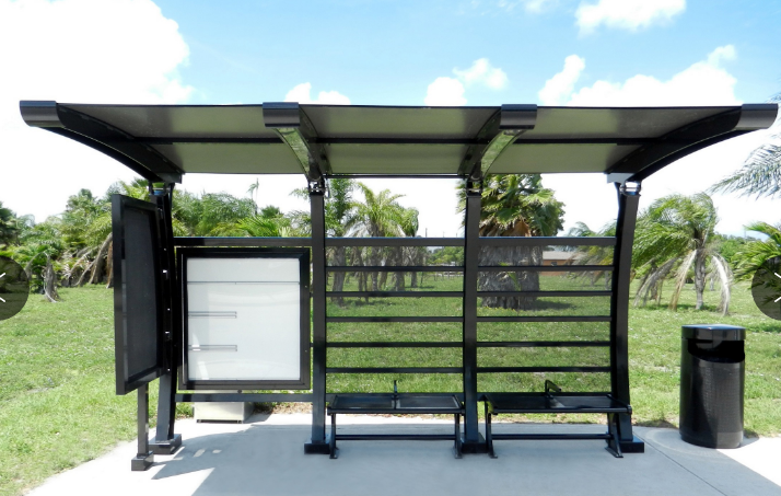 YEROO-Find Smart Bus Stop Customized Outdoor Bus Stop Shelter With Advertising