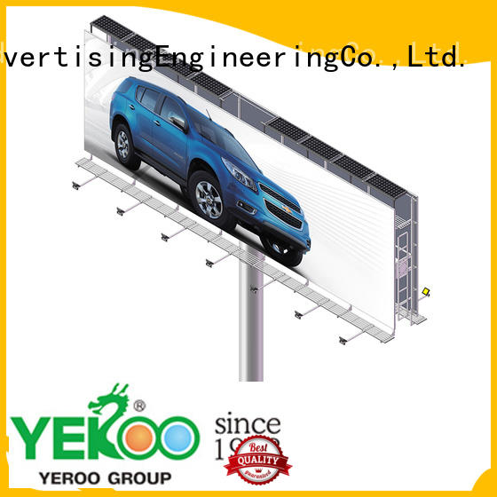 YEROO metal free standing billboard customization service for store