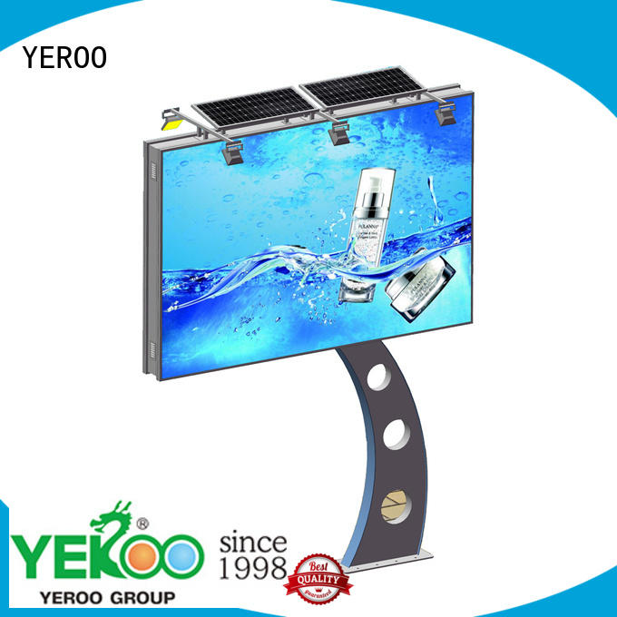YEROO unipole free standing billboard order now for super mall