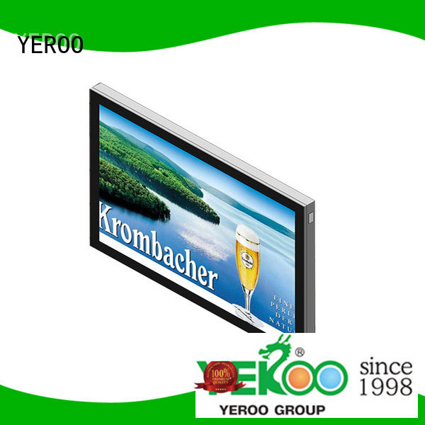 YEROO cheap backlit signage box mupi outdoor light