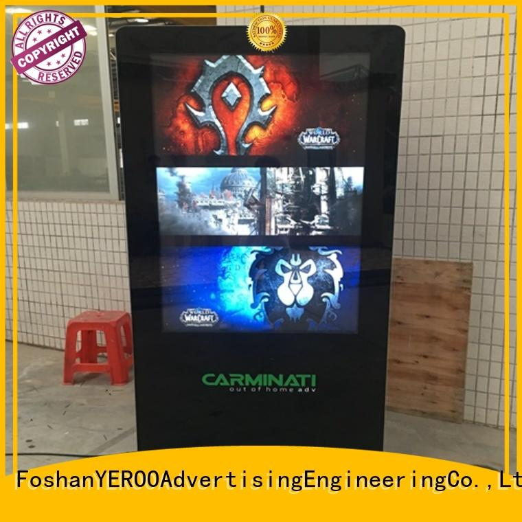 YEROO floor standing digital kiosk display receipt for parking lot
