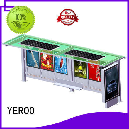 customized colar solar bus shelter trash public furniture YEROO