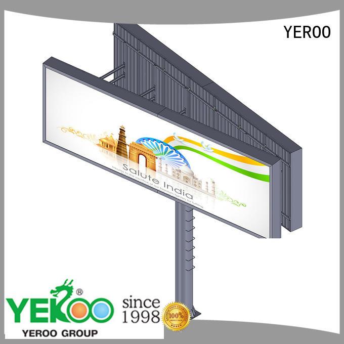 YEROO backlit billboard functional for marketing