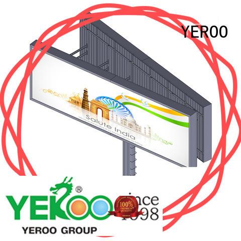 Outdoor advertising aillboard manufacture V shaped backlit billboard