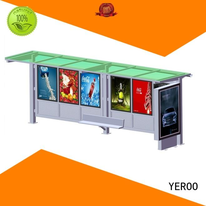 YEROO stainless steel simple bus shelter