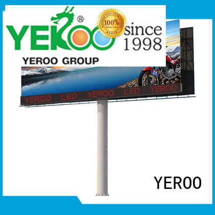 chic digital outdoor billboard wall mounted for parking lot