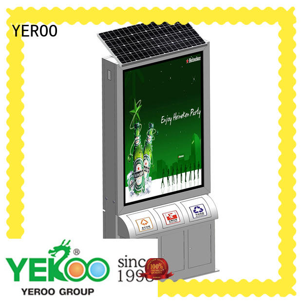 YEROO double sided light box stand free design for marketing
