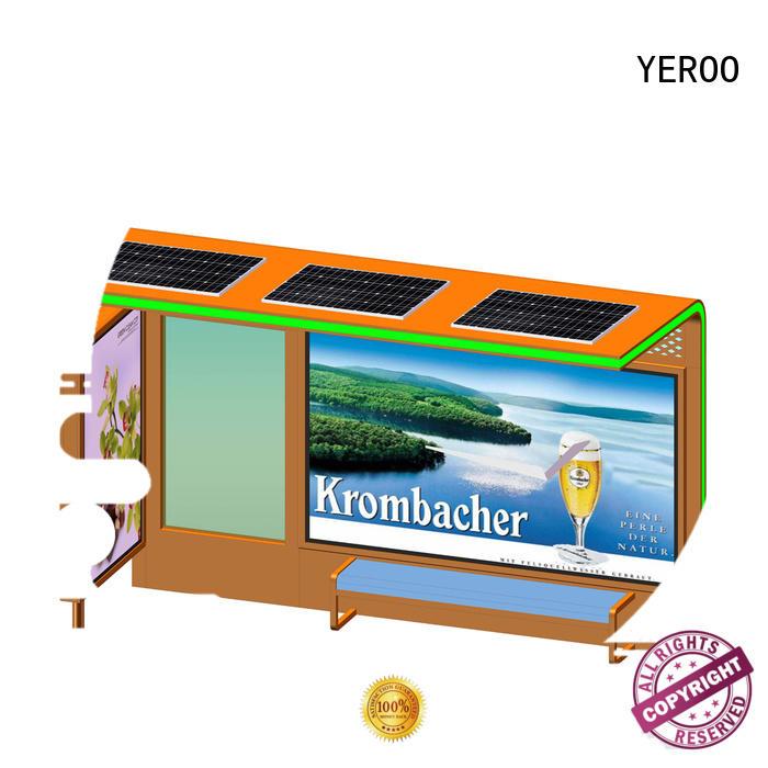 YEROO cost-efficient solar bus stop shelter material public furniture
