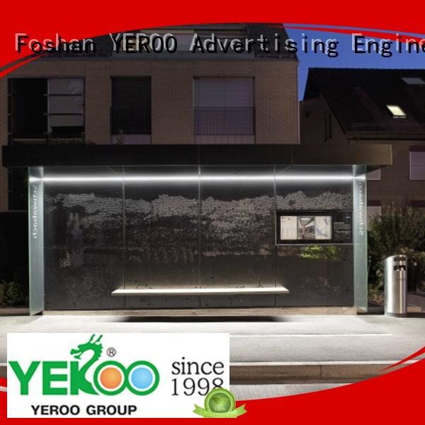 customized bus shelter ad bulk production