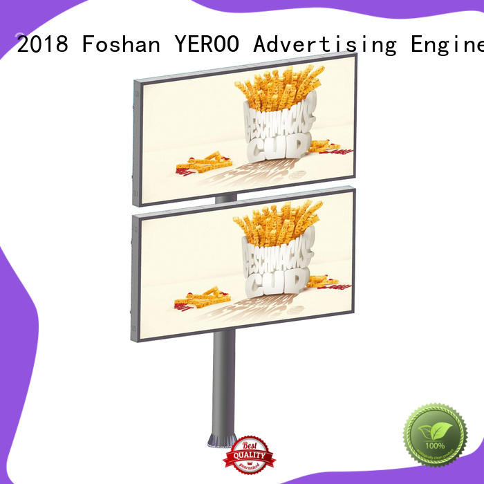YEROO double outdoor advertising billboard galvanized outdoor