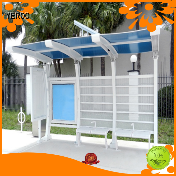 YEROO metal bus stop shelter metal for suburb