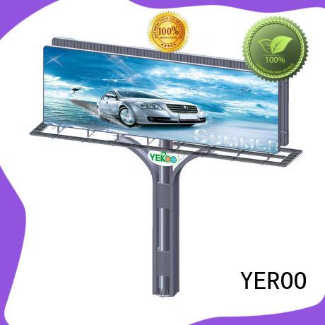 YEROO three sided solar powered billboard rustproof metal for advertising