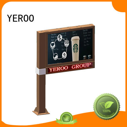 YEROO round shaped scrolling poster solar outdoor marketing
