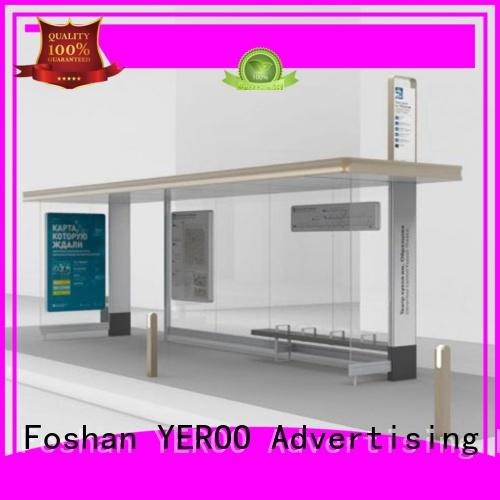 Multi-functional Steel Structure Advertising Outdoor Bus Shelter manufacturer