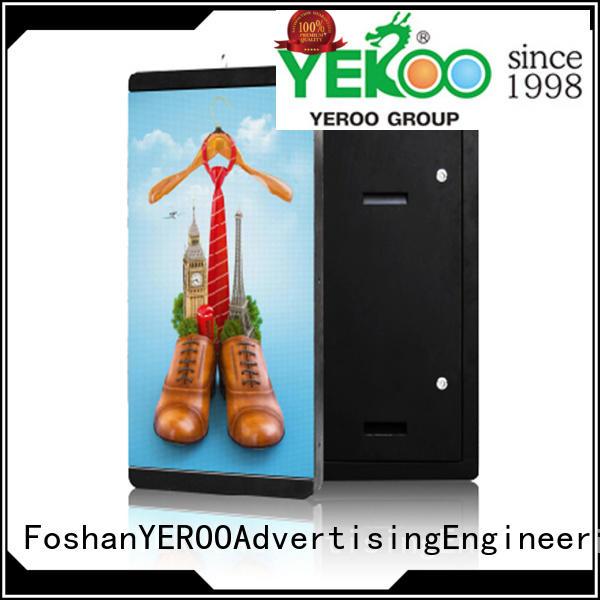 rotating digital light box player for super market YEROO