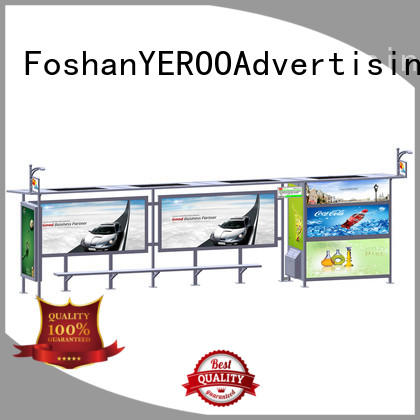 YEROO parking lot solar powered bus shelter advertising for bus stop