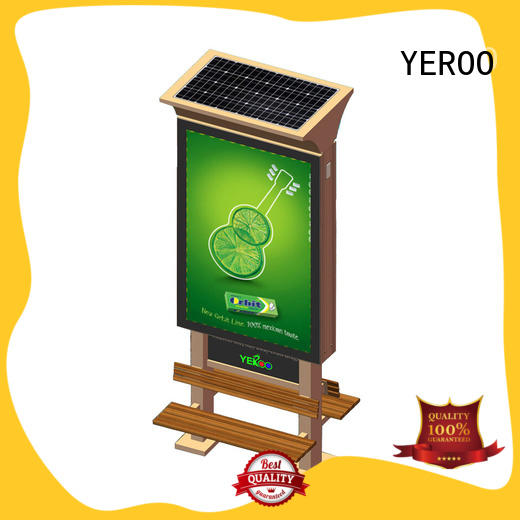 free standing outdoor light box easy operation outdoor advertising