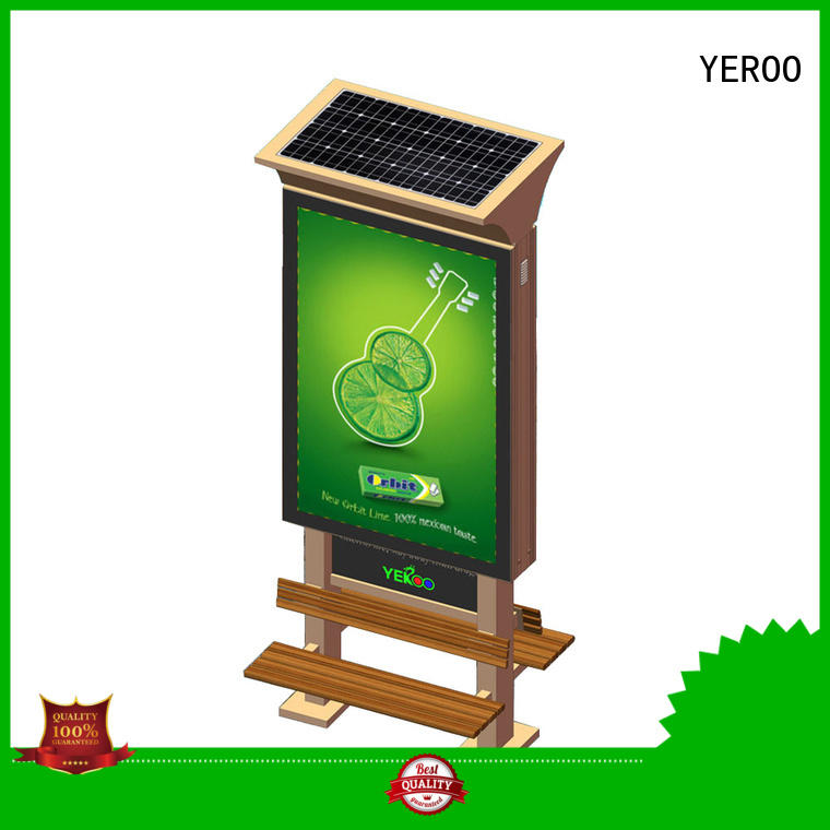 advertising billboard power for bus station YEROO