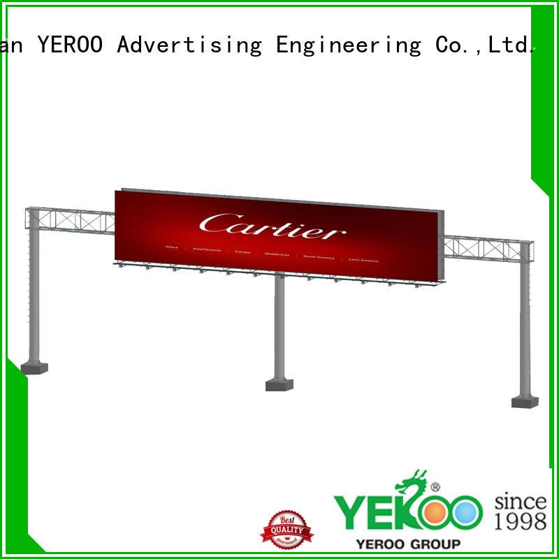 YEROO gantry solar powered billboard lights supplier for store