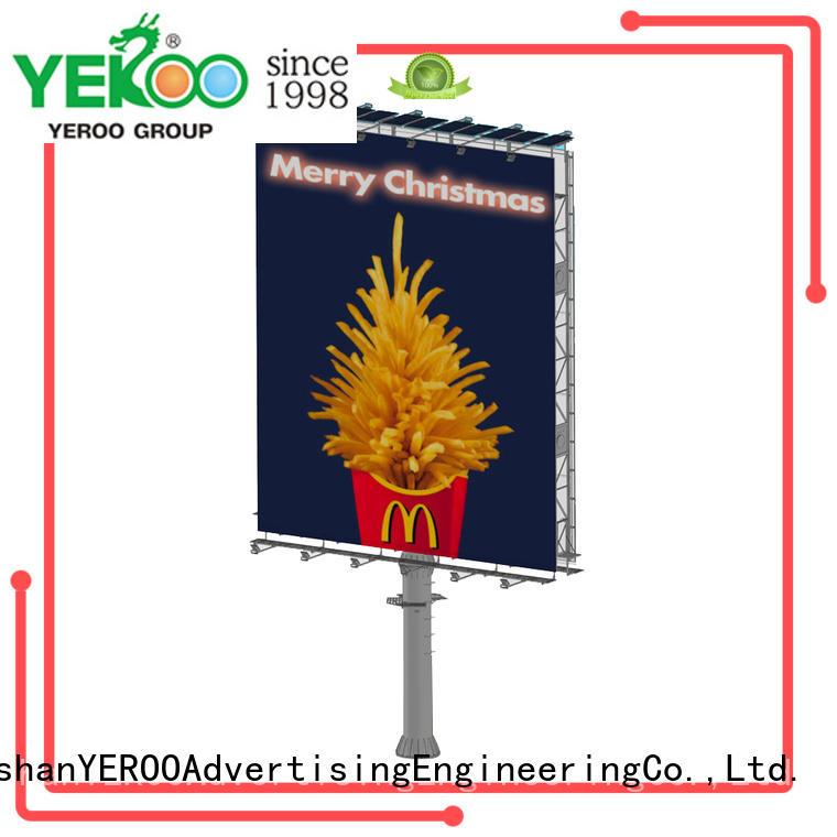 YEROO energy solar powered billboard order now for advertising