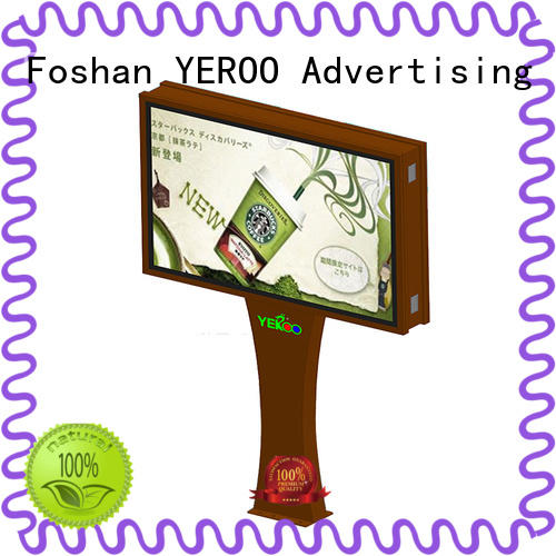 YEROO scrolling poster display double for highway