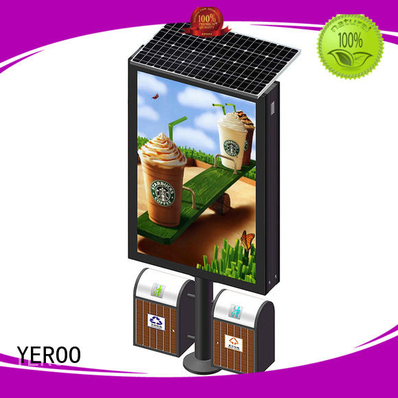 YEROO Brand powered advertising solar light box display case