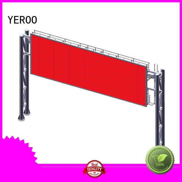 YEROO structure digital outdoor billboard stainless steel for bus stop