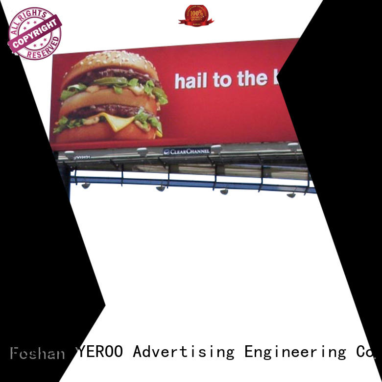 double side solar powered billboard manufacturer for city ads