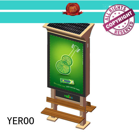 YEROO stainless steel light box stand free design for street ads