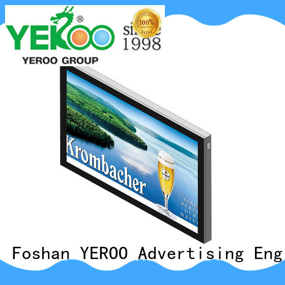 structure outdoor light box sign aluminium for advertising YEROO