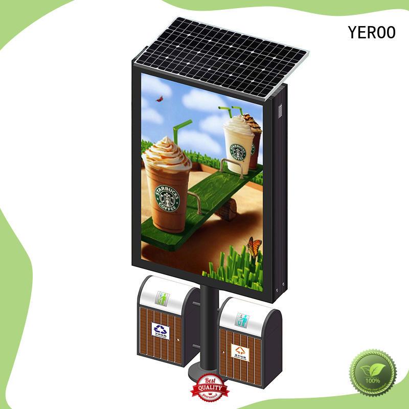 Solar powered aluminum light box with trash can YR-SLB-0003
