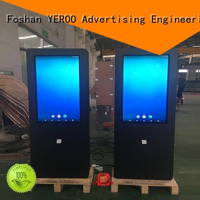 YEROO floor standing digital kiosk universal for parking lot