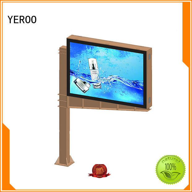 YEROO three-sided scrolling advertising signs advertising for highway