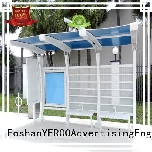 YEROO environmentally friendly bus shelter manufacturer light box for road