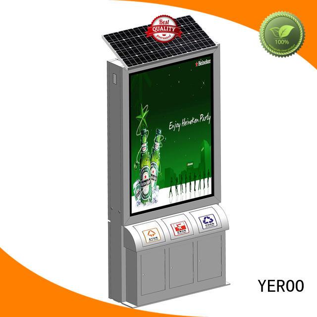 YEROO double sided aluminum light box free design for marketing